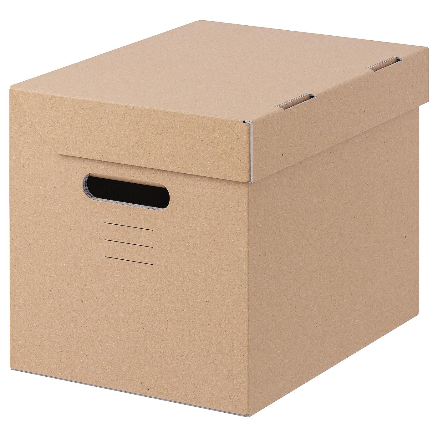 ПАППИС Коробка с крышкой, коричневый, 25x34x26 см: купить за 49 руб - цена, характеристики, отзывы | интернет-магазин TOPSTO, Крым