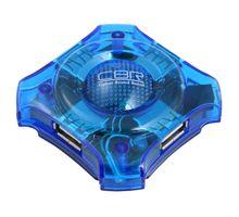USB-хаб CBR CH-127 4 порта, USB 2.0, голубой | интернет-магазин TOPSTO