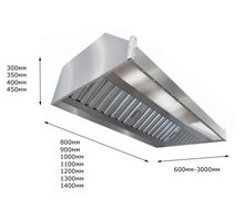 Зонт вытяжной пристенный ITERMA ЗВП-2000х1000х350 | интернет-магазин TOPSTO