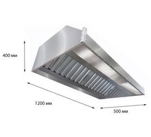 Зонт вытяжной пристенный ITERMA ЗВП-1200х800х350 | интернет-магазин TOPSTO