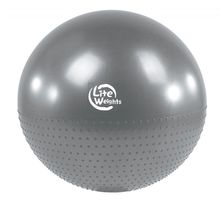 Мяч гимнастический + массажный Lite Weights BB010-26 65см с насосом серебро | интернет-магазин TOPSTO