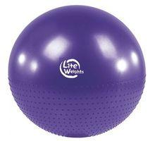 Мяч гимнастический + массажный Lite Weights BB010-30 75см с насосом фиолетовый | интернет-магазин TOPSTO