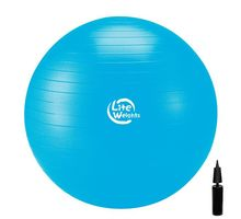 Мяч гимнастический Lite Weights 1867LW 75см антивзрыв с насосом голубой | интернет-магазин TOPSTO