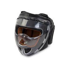 Шлем боксерский с защитной маской Jabb JE-2104 черный M | интернет-магазин TOPSTO