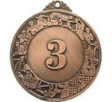 Медаль Start Up классическая 5027 бронза 50мм 9997   интернет-магазин TOPSTO