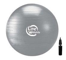 Мяч гимнастический Lite Weights 1868LW 85см антивзрыв с насосом серебро | интернет-магазин TOPSTO