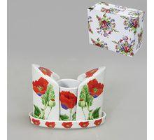 Набор для специй 3пр BRISWILD Цветы мака 545381 | интернет-магазин TOPSTO