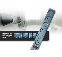 Сетевой фильтр CENTEK СТ-8901-6-1,8 Gray | интернет-магазин TOPSTO