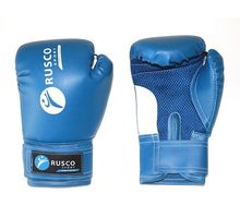 Перчатки боксерские RUSCO SPORT 8oz синий | интернет-магазин TOPSTO