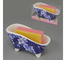 Набор 2пр подставка + губка для посуды BESKO 532153 Фиолетовый мрамор | интернет-магазин TOPSTO