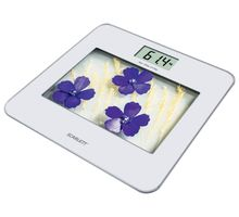 Весы SCARLETT SC-BS33E002 белые цветы | интернет-магазин TOPSTO