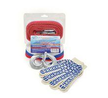 AUTOVIRAZH AV-600050 Трос буксировочный 5 т*5 м-лента с 2 крюками в блистере +перчатки | интернет-магазин TOPSTO