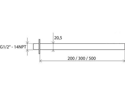 Держатель RAVAK 703.00 для верхнего душа (X07P178) | интернет-магазин TOPSTO