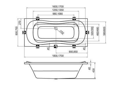 Ванна RAVAK Campanula II 170х75 белая (CA21000000) | интернет-магазин TOPSTO