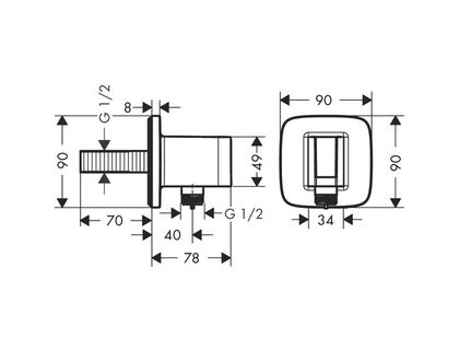 Шланговое подключение HANSGROHE Fixfit Porter E 26485000 | интернет-магазин TOPSTO