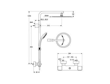 Душевая система IDEAL STANDARD IdealRain LUXE А6246АА | интернет-магазин TOPSTO