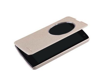 Кожаный чехол (книжка) Nillkin Sparkle Series для LG G4 золото | интернет-магазин TOPSTO