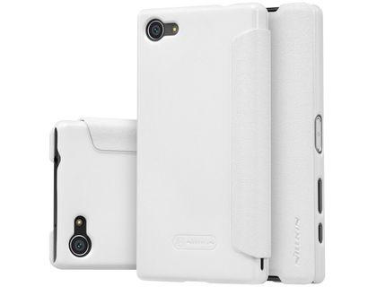 Кожаный чехол (книжка) Nillkin Sparkle Series для SONY Z5 Compact белый | интернет-магазин TOPSTO