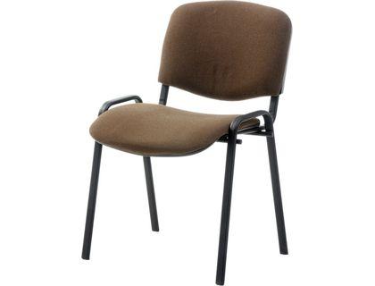 АЛМЕТ Стул ИЗО,ткань 403 коричневая с темной ниткой, к-с черный | интернет-магазин TOPSTO