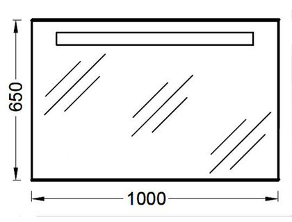 Зеркало JACOB DELAFON PARALLEL EB1416-NF (EB1155-NF) | интернет-магазин TOPSTO