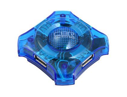 USB-хаб CBR CH-127 4 порта, USB 2.0, голубой   интернет-магазин TOPSTO