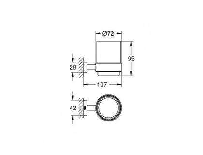 Стакан GROHE Essentials Cube 40755001 | интернет-магазин TOPSTO