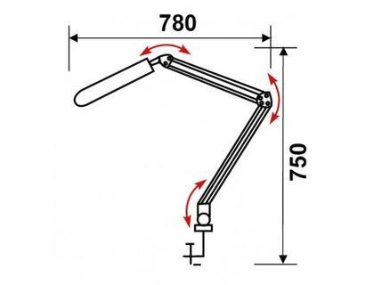 Светильник настольный Трансвит Delta/Wh на струбцине люминесцентный 2G7 (в комплекте) белый 11Вт металл+пластик | интернет-магазин TOPSTO