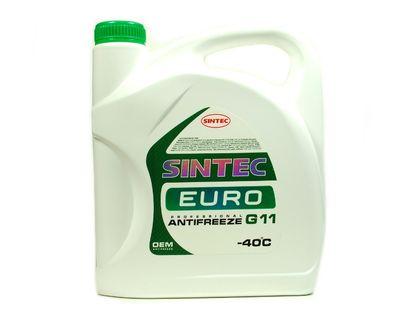 Антифриз Sintec Euro A-40 G11 зелёный 5 л | интернет-магазин TOPSTO