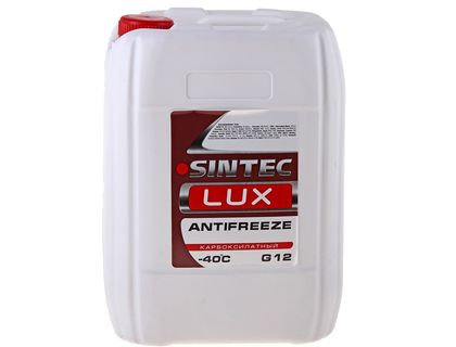 Антифриз Sintec LUX A-40 G12 красный 10 л | интернет-магазин TOPSTO