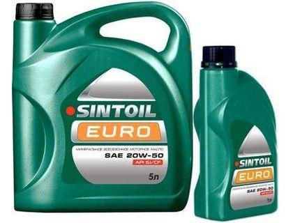 Масло Sintoil 20W-50 EURO API SJ/CF 4л | интернет-магазин TOPSTO