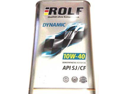 Масло ROLF Dynamic 10W-40 API SJ/CF 4 л | интернет-магазин TOPSTO