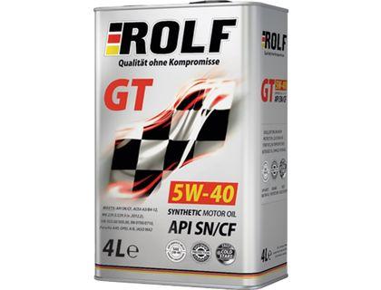 Масло ROLF GT 5W-40 API SN/CF 4 л | интернет-магазин TOPSTO