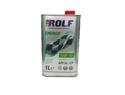 Масло ROLF Energy 10W-40 API SL/CF 1 л | интернет-магазин TOPSTO