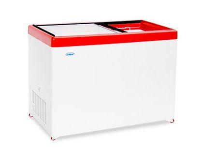 Ларь морозильный со стекл крыш СНЕЖ МЛП 400 красн | интернет-магазин TOPSTO