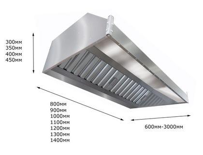 Зонт вытяжной пристенный ITERMA ЗВП-1000х800х350   интернет-магазин TOPSTO