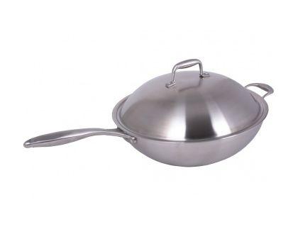 Сковорода WOK INDOKOR 36 см с крышкой WIND36BL | интернет-магазин TOPSTO
