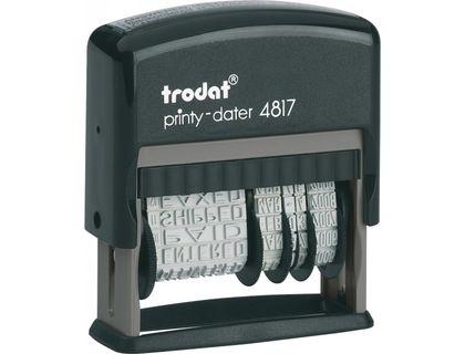 Датер Trodat PRINTY 4817 С 12 Б/Г ТЕРМИНАМИ высота даты 3. 8мм | интернет-магазин TOPSTO