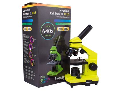 Микроскоп Levenhuk Rainbow 2L PLUS Lime | интернет-магазин TOPSTO