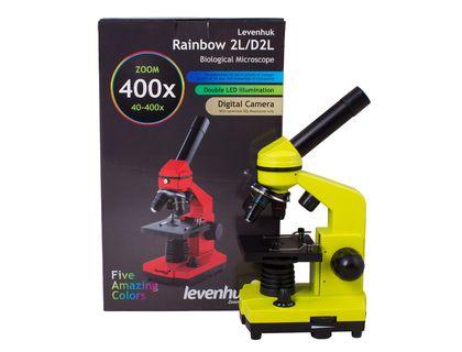 Микроскоп Levenhuk Rainbow 2L Lime | интернет-магазин TOPSTO