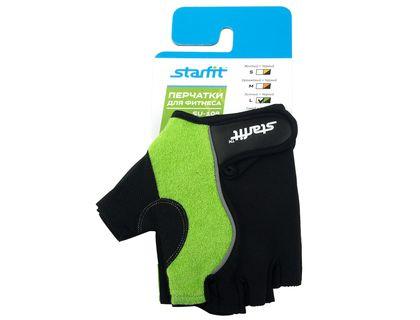 Перчатки для фитнеса STARFIT SU-108 зеленый/черный L | интернет-магазин TOPSTO