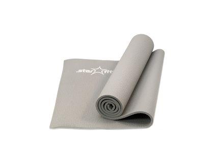 Коврик для йоги STARFIT FM-101 PVC 173x61x1,0см серый | интернет-магазин TOPSTO
