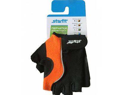 Перчатки для фитнеса STARFIT SU-108 оранжевый/черный M | интернет-магазин TOPSTO