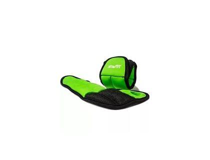 Утяжелители STARFIT WT-201 для рук Эргономичные 0,75кг зеленый/черный | интернет-магазин TOPSTO