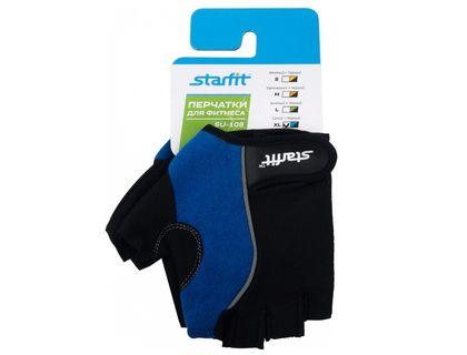 Перчатки для фитнеса STARFIT SU-108 синий/черный XL | интернет-магазин TOPSTO