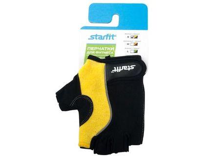 Перчатки для фитнеса STARFIT SU-108 желтый/черный S | интернет-магазин TOPSTO