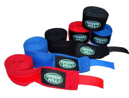 Бинт боксерский Green Hill BP-6232c 3,5м эластик красный | интернет-магазин TOPSTO