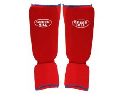 Защита голень-стопа Green Hill SIC-6131 х/б красный XL | интернет-магазин TOPSTO