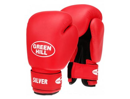 Перчатки боксерские Green Hill SILVER BGS-2039 10oz красный | интернет-магазин TOPSTO