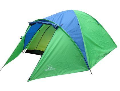 Палатка 4-х местная GreenWood Target 4 зеленый/голубой | интернет-магазин TOPSTO
