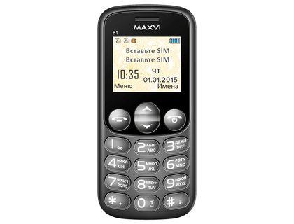 Телефон Maxvi B1 Black | интернет-магазин TOPSTO